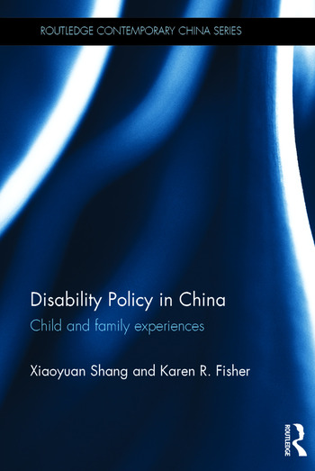 Disability Policy in China Child and family experiences book cover