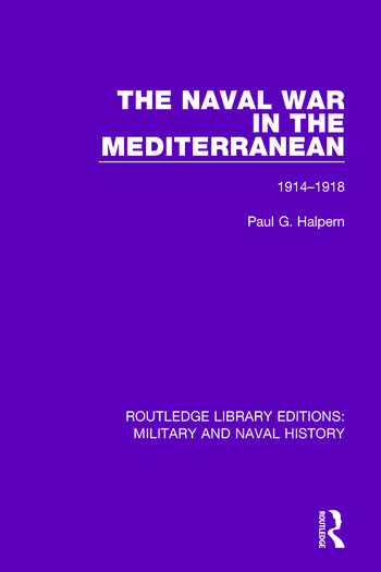 The Naval War in the Mediterranean 1914-1918 book cover