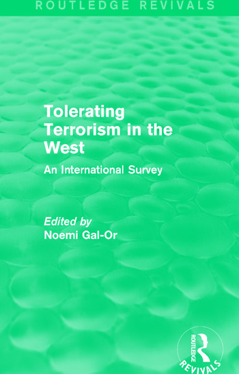 Tolerating Terrorism in the West An International Study book cover