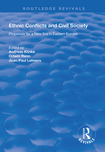 Ethnic Conflicts and Civil Society Proposals for a New Era in Eastern Europe book cover
