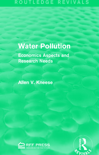 Water Pollution Economics Aspects and Research Needs book cover