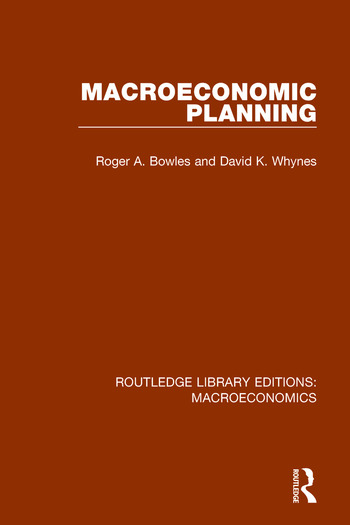 Macroeconomic Planning book cover