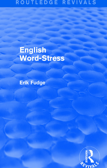 English Word-Stress book cover