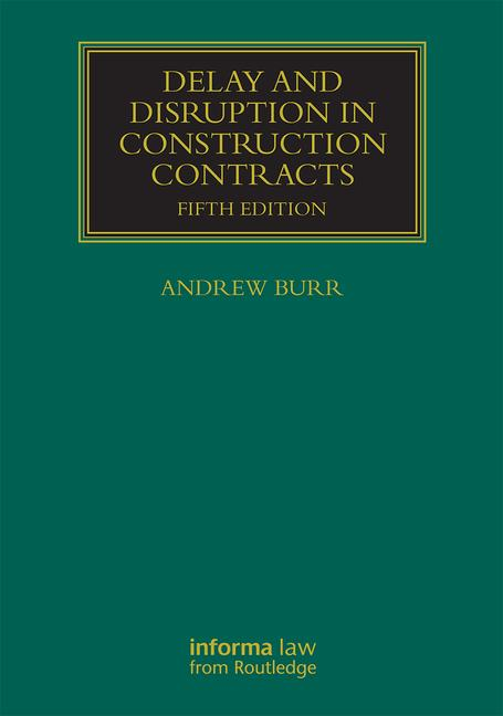 Delay and Disruption in Construction Contracts book cover
