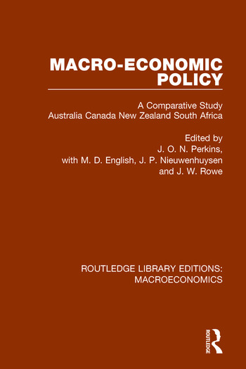Macro-economic Policy A Comparative Study, Australia, Canada, New Zealand and South Africa book cover