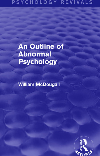 An Outline of Abnormal Psychology book cover