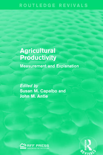 Agricultural Productivity Measurement and Explanation book cover