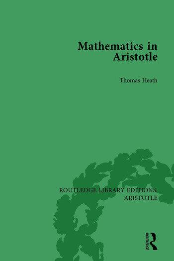 Mathematics in Aristotle book cover