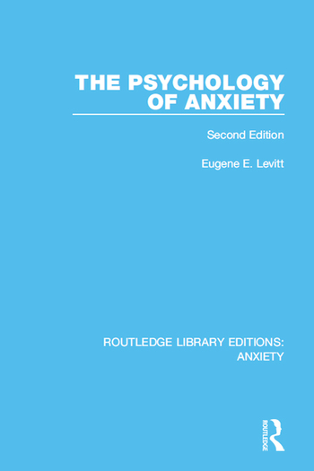 The Psychology of Anxiety Second Edition book cover