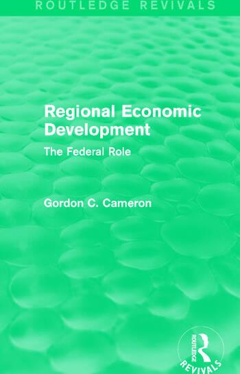 Regional Economic Development The Federal Role book cover