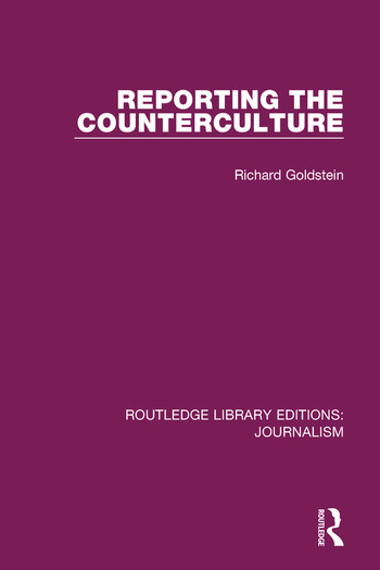 Reporting the Counterculture book cover