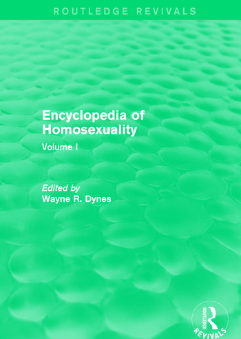Encyclopedia of Homosexuality Volume I book cover