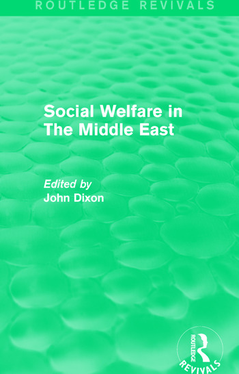 Social Welfare in The Middle East book cover