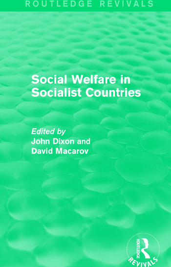 Social Welfare in Socialist Countries book cover