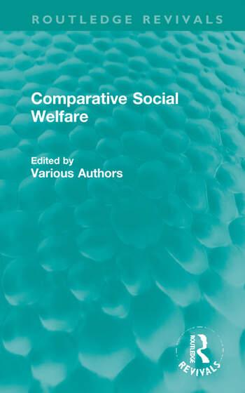 Comparative Social Welfare book cover