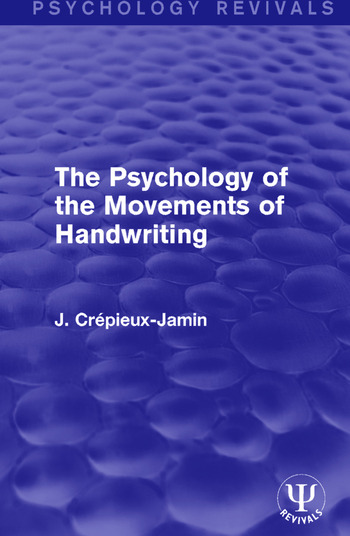 The Psychology of the Movements of Handwriting book cover