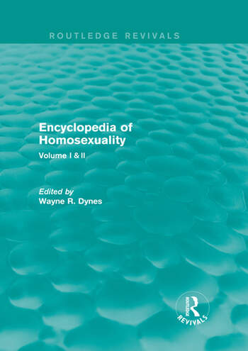 Encyclopedia of Homosexuality book cover