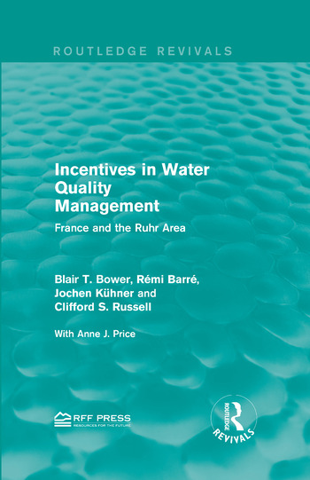 Incentives in Water Quality Management France and the Ruhr Area book cover