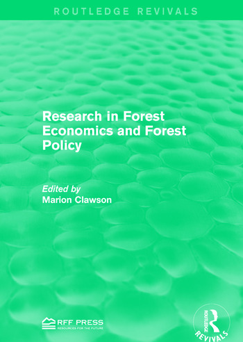 Research in Forest Economics and Forest Policy book cover