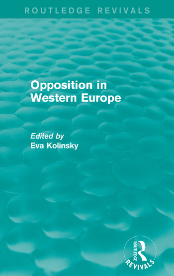 Opposition in Western Europe book cover