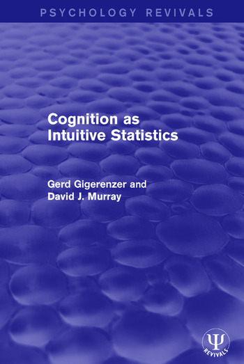 Cognition as Intuitive Statistics book cover