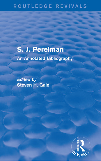 S. J. Perelman An Annotated Bibliography book cover