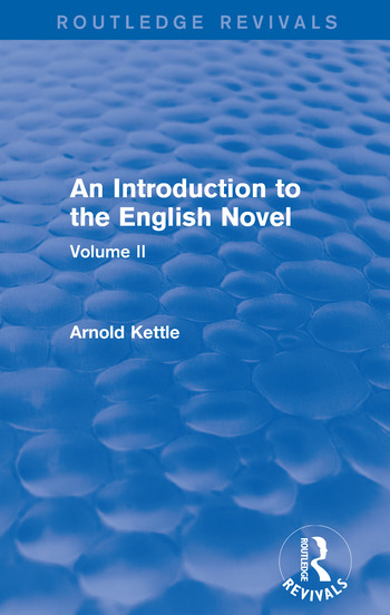 An Introduction to the English Novel Volume II book cover