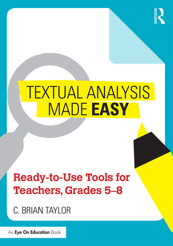 Textual Analysis Made Easy Ready-to-Use Tools for Teachers, Grades 5-8 book cover