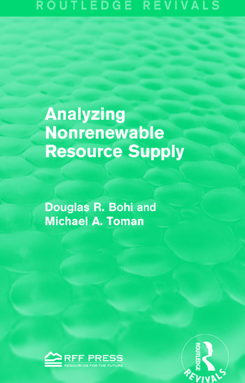 Analyzing Nonrenewable Resource Supply book cover