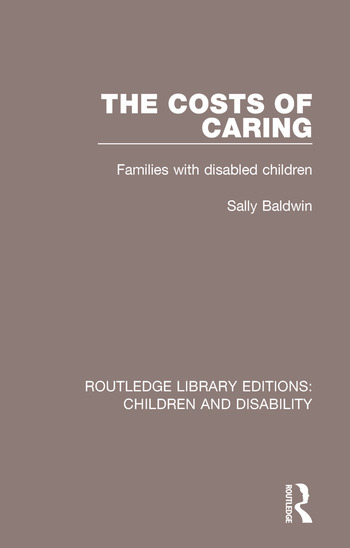 The Costs of Caring Families with Disabled Children book cover