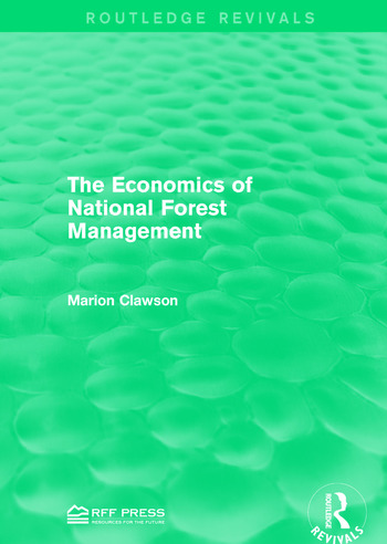The Economics of National Forest Management book cover