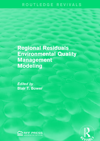 Regional Residuals Environmental Quality Management Modeling book cover