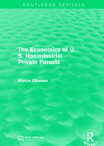 The Economics of U.S. Nonindustrial Private Forests book cover