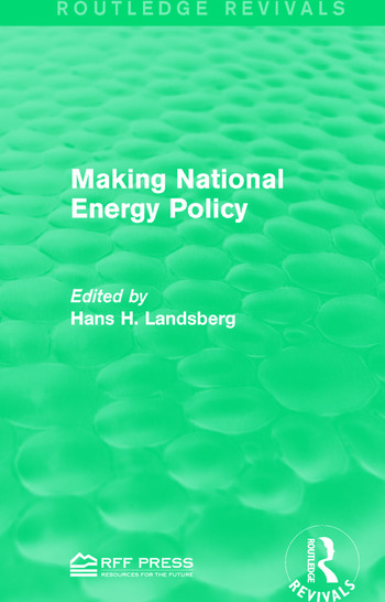 Making National Energy Policy book cover