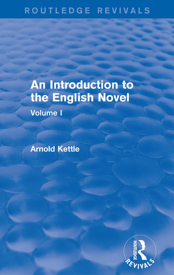 An Introduction to the English Novel Volume I book cover