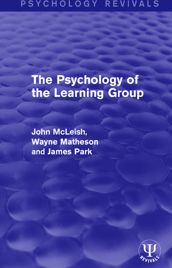 The Psychology of the Learning Group book cover