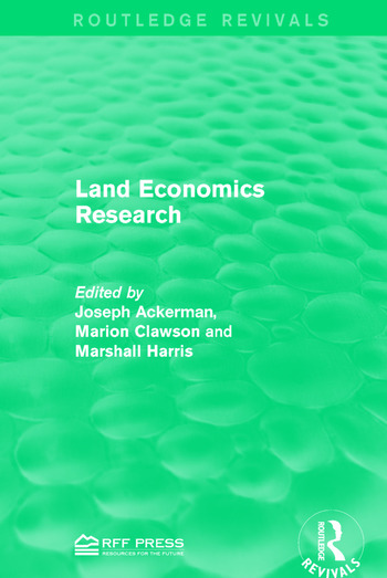 Land Economics Research book cover