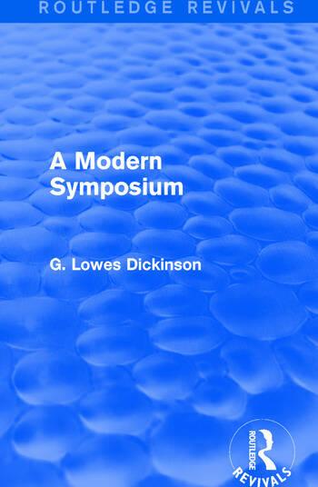 A Modern Symposium book cover