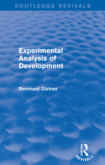 Experimental Analysis of Development book cover