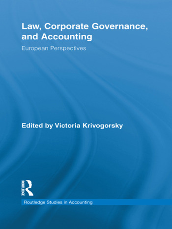 Law, Corporate Governance and Accounting European Perspectives book cover