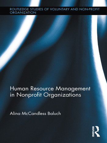 Human Resource Management in Nonprofit Organizations book cover
