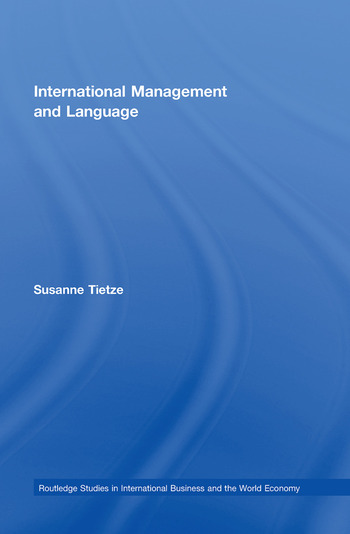 International Management and Language book cover