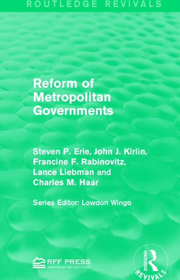 Reform of Metropolitan Governments book cover