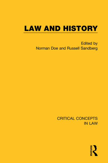 Law and History book cover