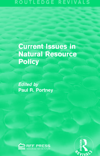 Current Issues in Natural Resource Policy book cover
