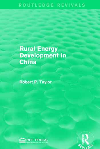 Rural Energy Development in China book cover