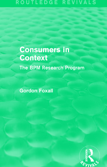 Consumers in Context The BPM Research Program book cover