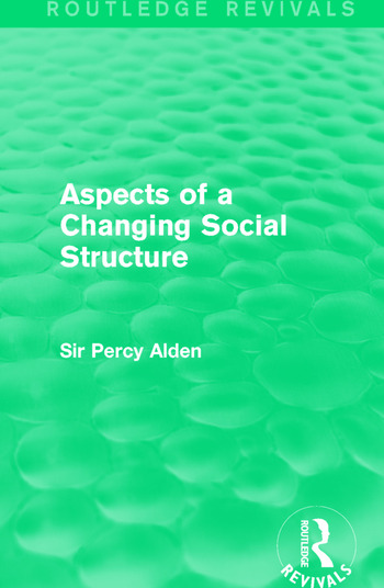 Aspects of a Changing Social Structure book cover
