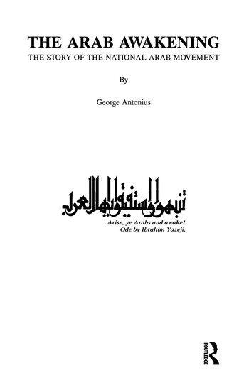 Arab Awakening book cover