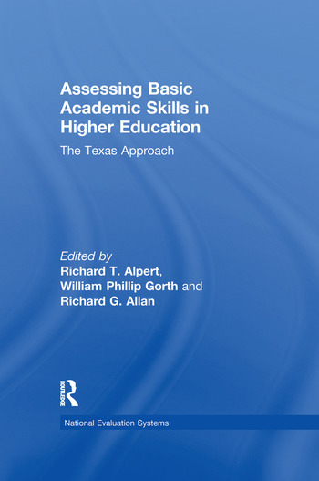 Assessing Basic Academic Skills in Higher Education The Texas Approach book cover